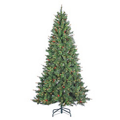 7.5 ft. Pre-Lit Black Hills Spruce Christmas Tree