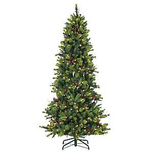 7.5 ft. Pre-Lit Michigan Spruce Christmas Tree
