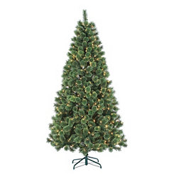 7 ft. Pre-Lit Deluxe Cashmere Pine Christmas Tree
