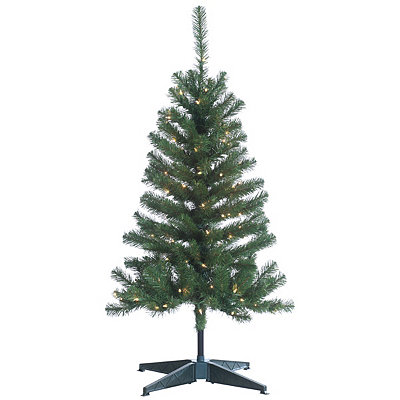 4 ft. Pre-Lit Cumberland Pine Christmas Tree