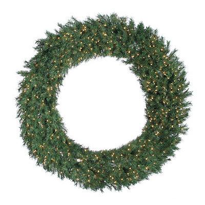 Pre-Lit Aspen Spruce Wreath, 60 in.
