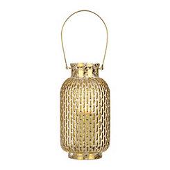 Gold Foil Glass Lantern