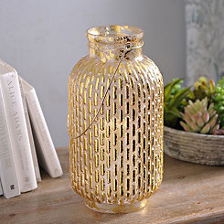Gold Foil Glass Lantern