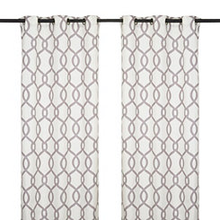 Kochi Black Pearl Curtain Panel Set, 108 in.