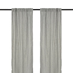 Gray Layton Curtain Panel Set, 96 in.