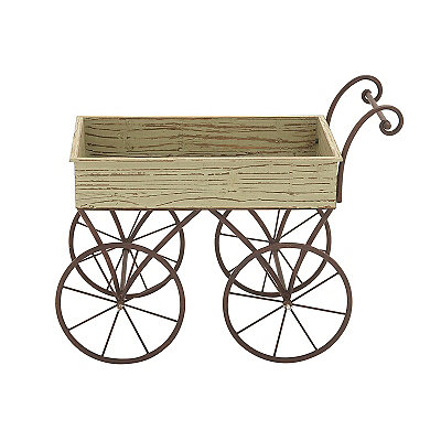 Metal Handcart Planter