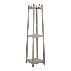 Gray Washed Wooden Coat Rack