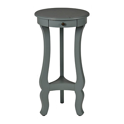 Blue Curved Pedestal Side Table