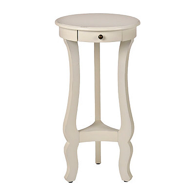 Cream Curved Pedestal Side Table