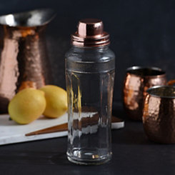 Copper Top Glass Cocktail Shaker