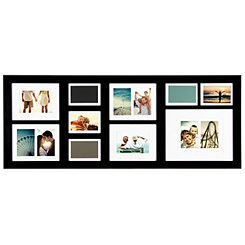Long Black 10-Opening Collage Frame