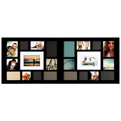 Long Black 22-Opening Collage Frame