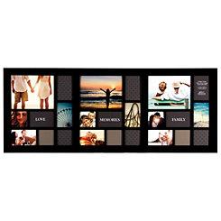 Long Black 24-Opening Collage Frame