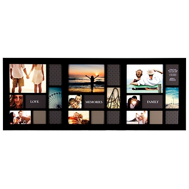 long black 24 opening collage frame