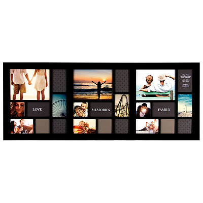 Long Black 24-Opening Collage Frame