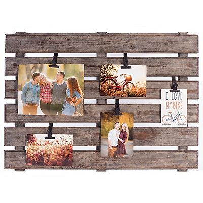 Gray Wood Palette Clip Collage Frame