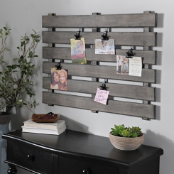 Gray Wood Pallet Clip Collage Frame