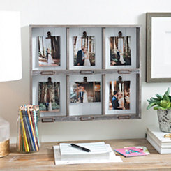 Distressed Gray Shadowbox Collage Frame