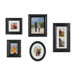 Black Classic 5-pc. Gallery Picture Frame Set