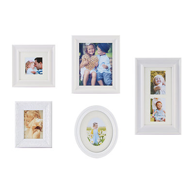 White Classic 5-pc. Gallery Picture Frame Set