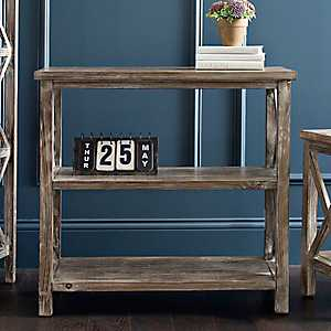 Weathered Natural Wooden Console Table