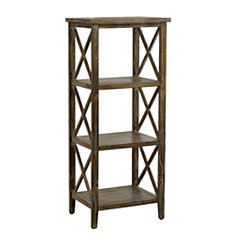 Weathered Natural Wooden Shelf
