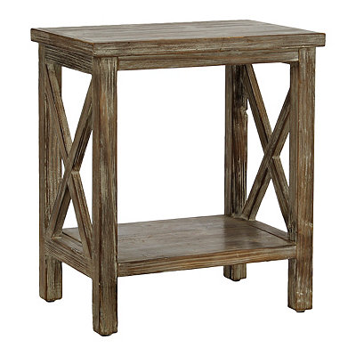 Weathered Natural Wooden Accent Table