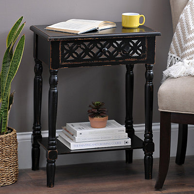 Black Clover Mirror Side Table