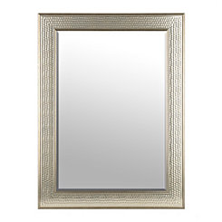 Honeycomb Pewter Framed Wall Mirror
