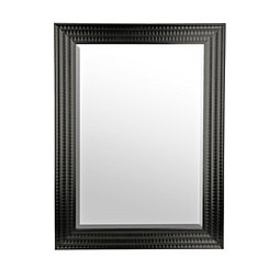 Black Scalloped Ridge Hanging Mirror