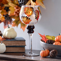 Autumn Leaf Crackle Glass Charisma, 12 in.