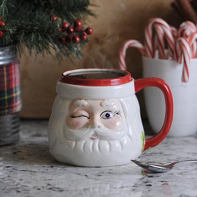 Winking Santa Claus Mug