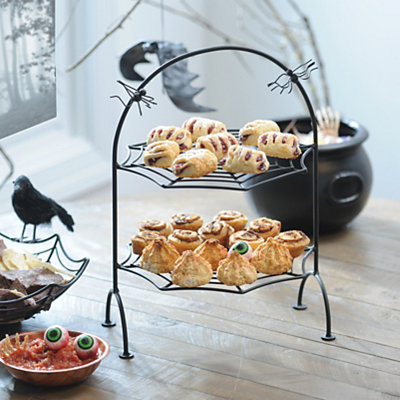 Spider Web 2-Tier Serving Tray