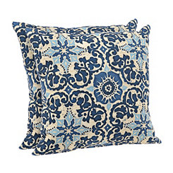 Woodblock Prism Outdoor Accent Pillows, Set of 2