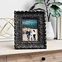 Distressed Black Ornate Picture Frame, 5x7