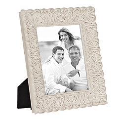 Distressed Cream Ornate Picture Frame, 8x10
