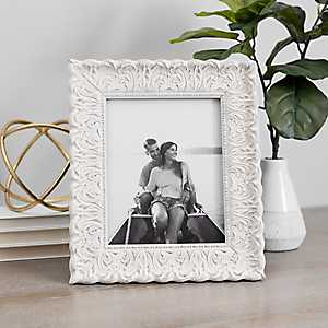 Distressed Cream Ornate Picture Frame, 8x10