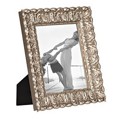 Distressed Silver Ornate Picture Frame, 8x10