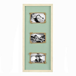 Cream and Turquoise Rope Collage Frame