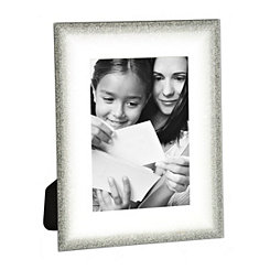 Silver Fade Glass Picture Frame, 5x7