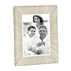 Gold Sunburst Glass Picture Frame, 5x7