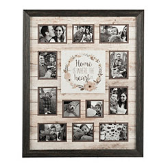 Where The Heart Is 12-Opening Collage Frame