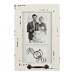 White Windowpane Mr. & Mrs. Picture Frame, 5x7