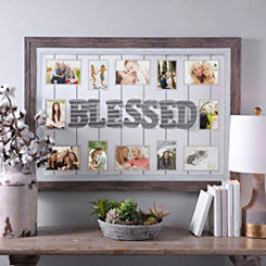 Galvanized Metal Blessed Collage Frame