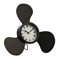 Black Propeller Wall Clock