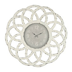 Distressed Cream Catherine Wall Clock