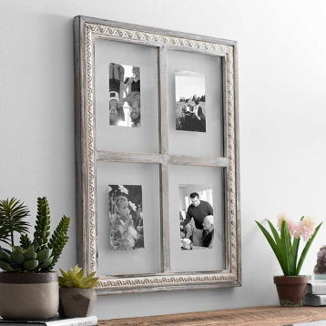 gray glass windowpane collage frame kirklands - Windowpane Picture Frame