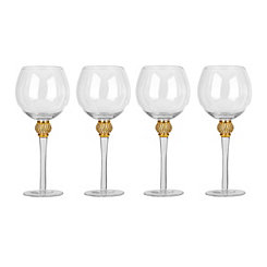 Cellini Gold Diamond Goblets, Set of 4