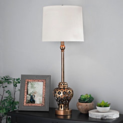 Elegant Bronze Cut Buffet Lamp