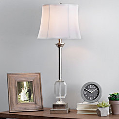 Silver Leaf Crystal Buffet Lamp